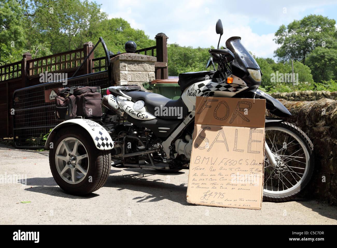 A Bmw F650gs Dakar Trike For Sale In The U K Stock Photo 37763315