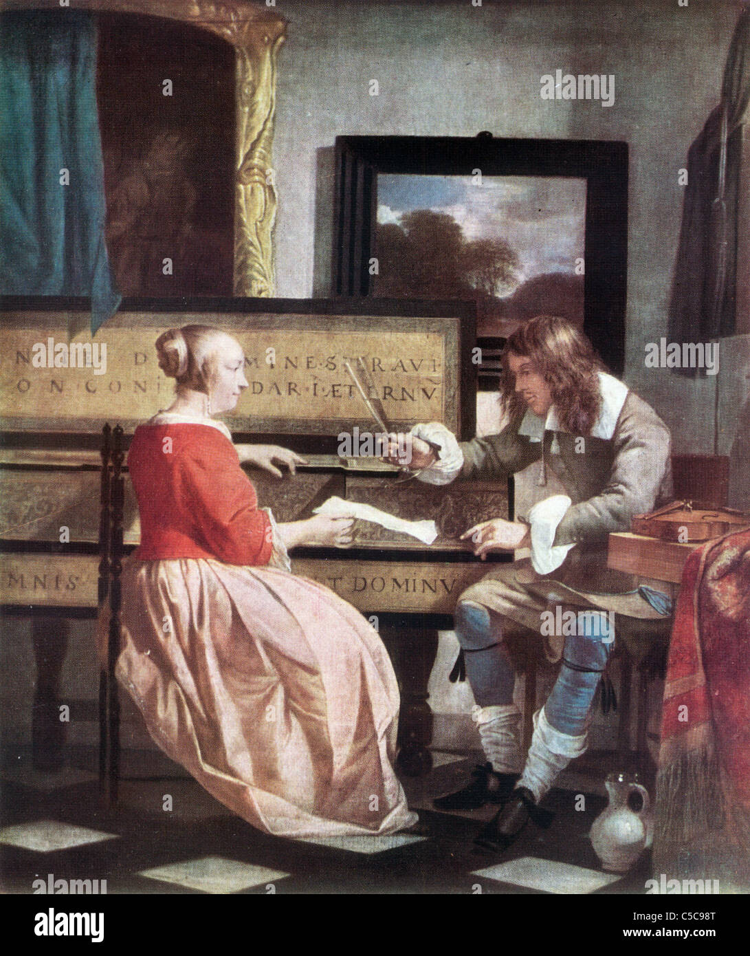 Painting By Gabriel Metsu Late Dutch School Quot The Music