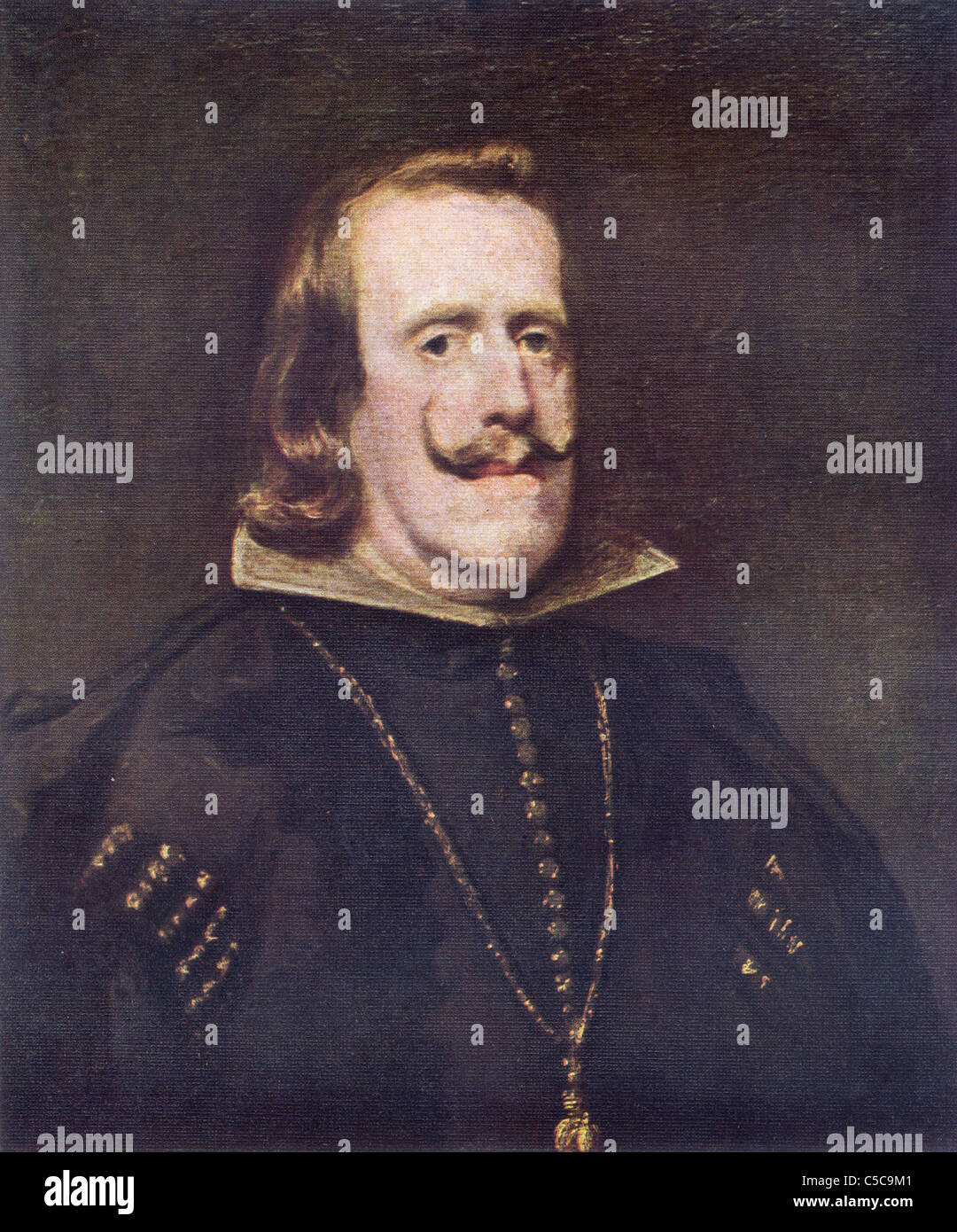 Painting by Diego Velazquez, 'Phillip IV, King of Spain', Spanish School; - Stock Image