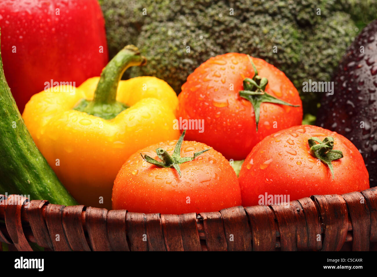 Close up of various vegetables - Stock Image