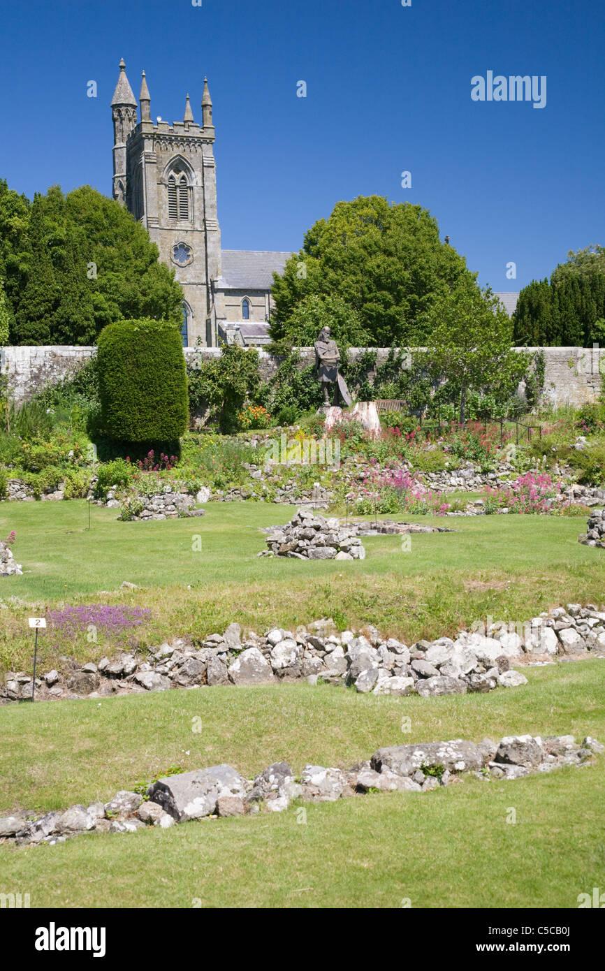 Shaftesbury abbey ruins, Dorset, England - Stock Image