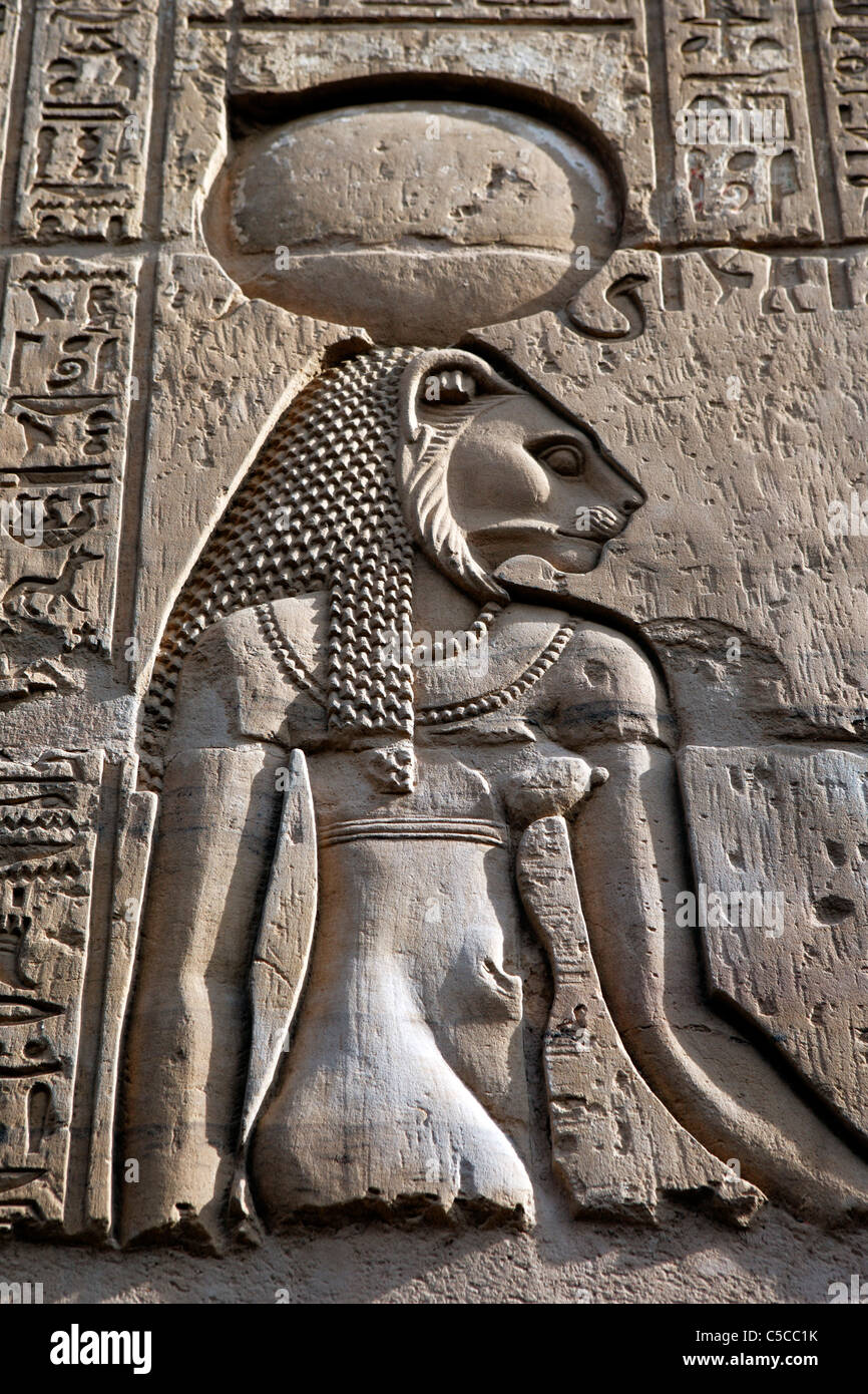 Sobek and Haroeris temple (2nd-1st century BC), Kom Ombo, Egypt Stock Photo