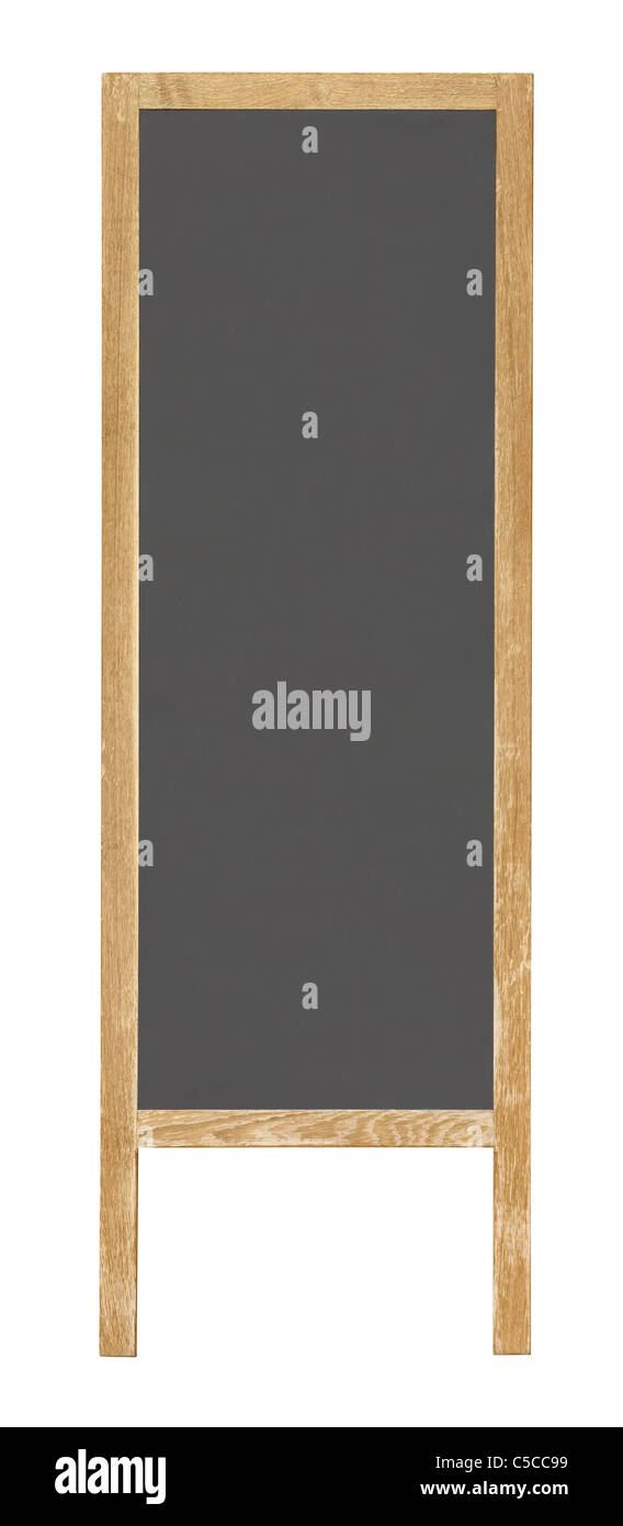 Notice black board isolated on white background - Stock Image