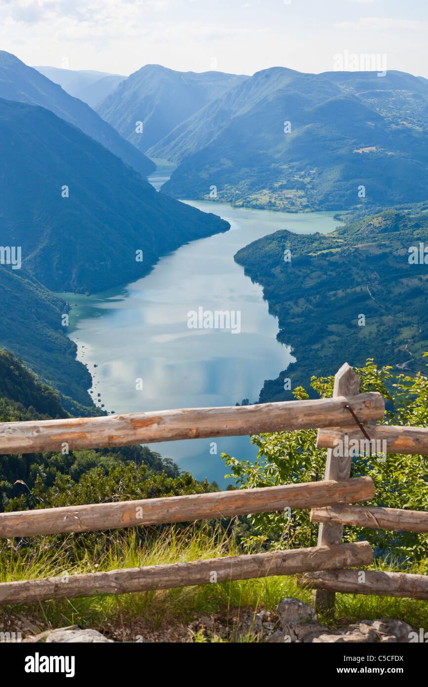 River Drina, Serbia Bosnia and Herzegovina Perucac Banjska Stena - Stock Image