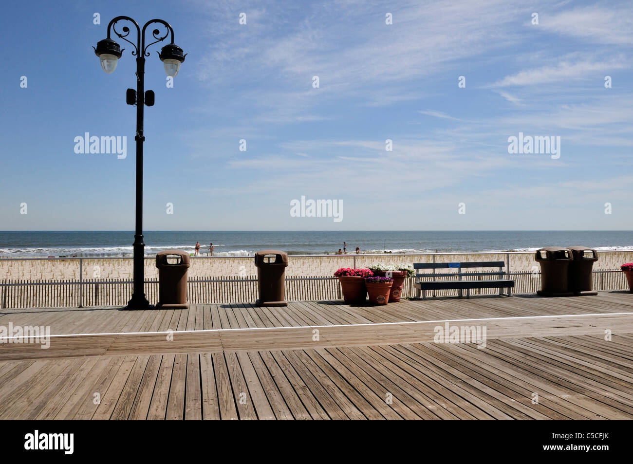 The boardwalk at Ocean City, New Jersey - Stock Image
