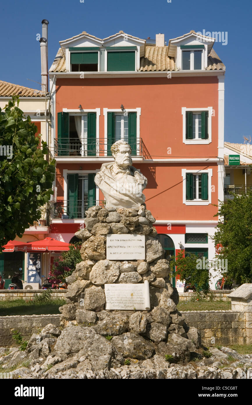 Greece Ionian islands Lefkada Town square - Stock Image