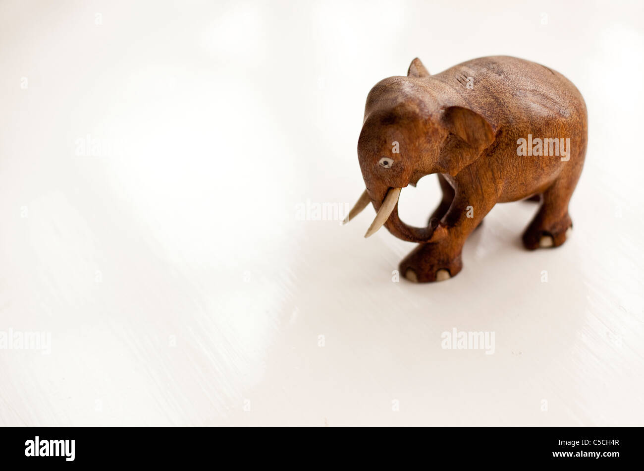Wooden elephant decoration Stock Photo