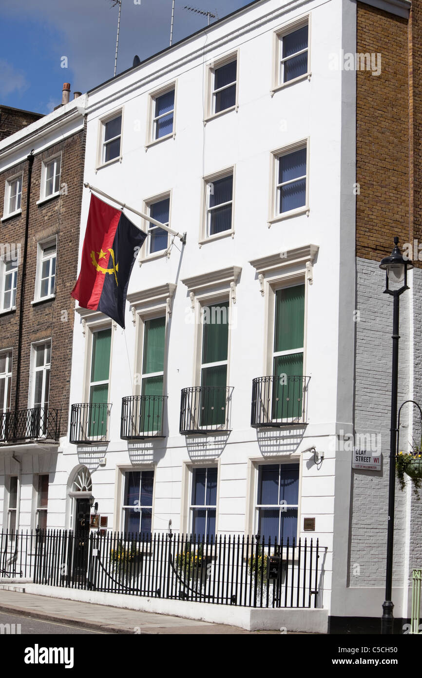 Front of the Embassy of Angola, 22 Dorset street, Greater London, England, UK - Stock Image