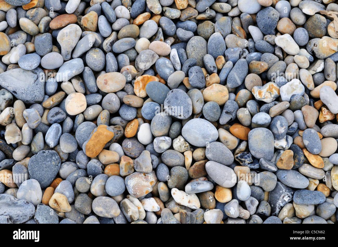 Shingle Beach Detail, Weybourne, Norfolk, England, UK - Stock Image
