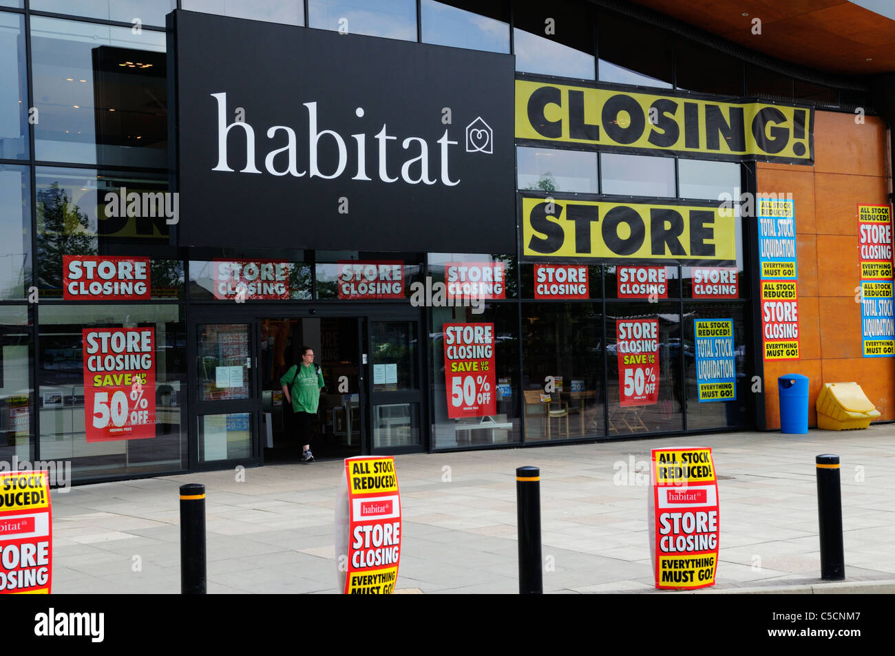Habitat Store Closing Down, Cambridge, England, UK - Stock Image