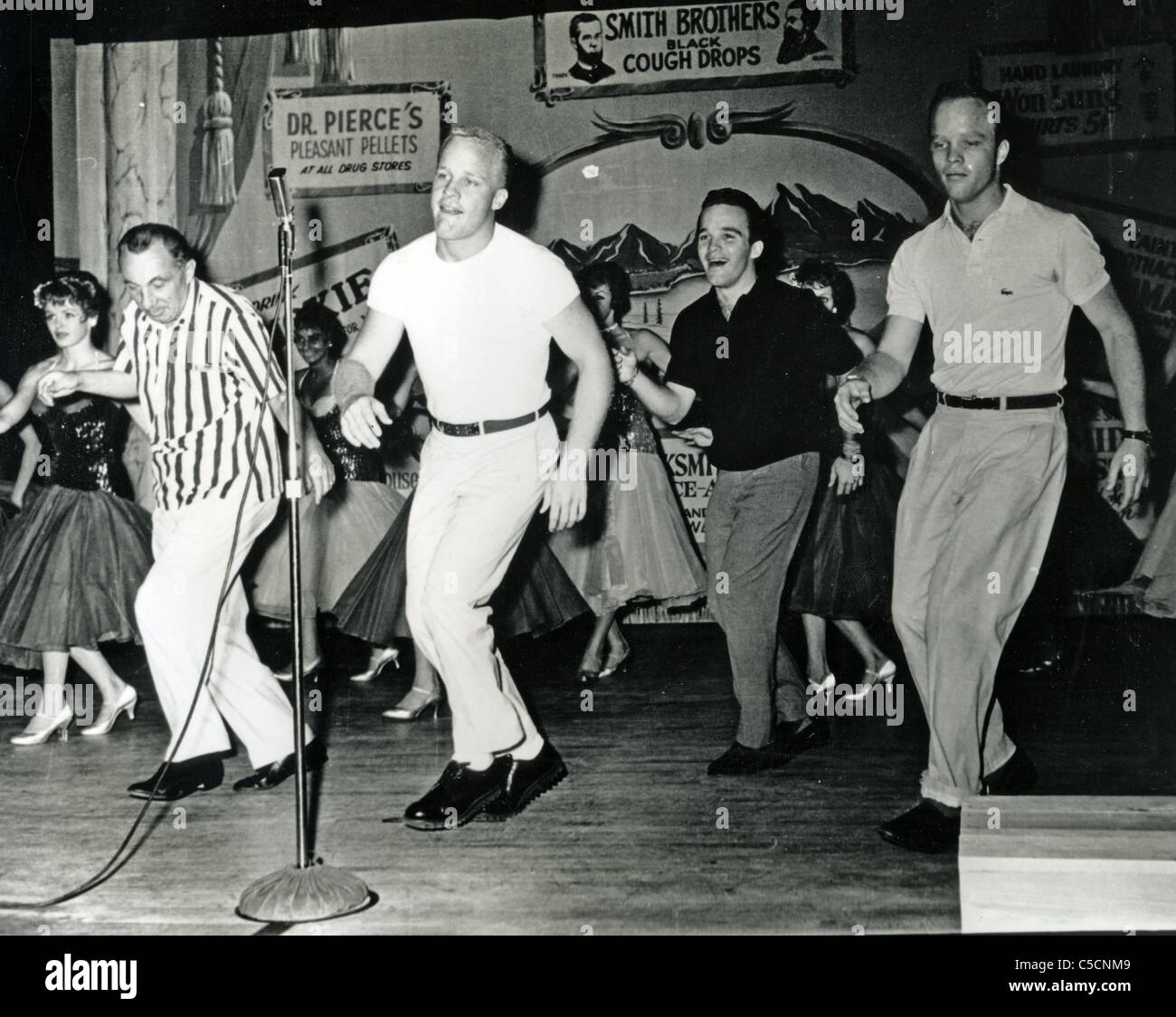 BING CROSBY  Sons from l: Phillip, Lindsay and Dennis trying their hand at show business - Stock Image