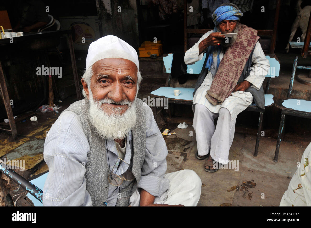 Street scene in Ahmedabad, India - Stock Image