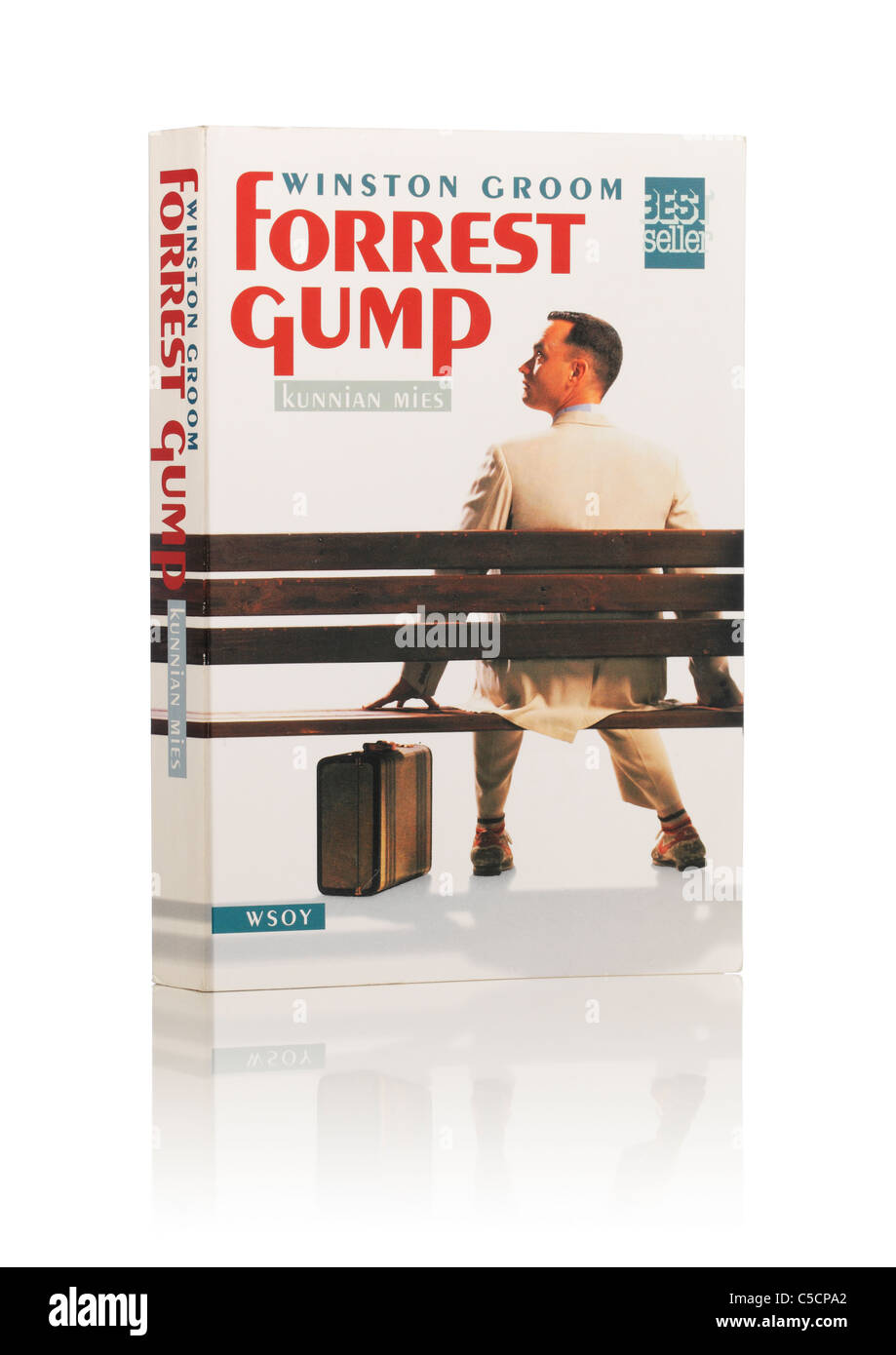 Winston Groom's Novel 'Forrest Gump'. Here in Finnish edition from 1995. - Stock Image