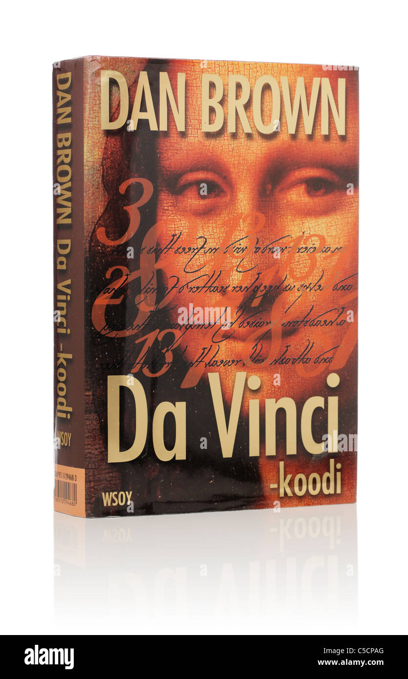 Dan Brown's Novel 'The Da Vinci Code'. Here in Finnish edition from 2004. - Stock Image