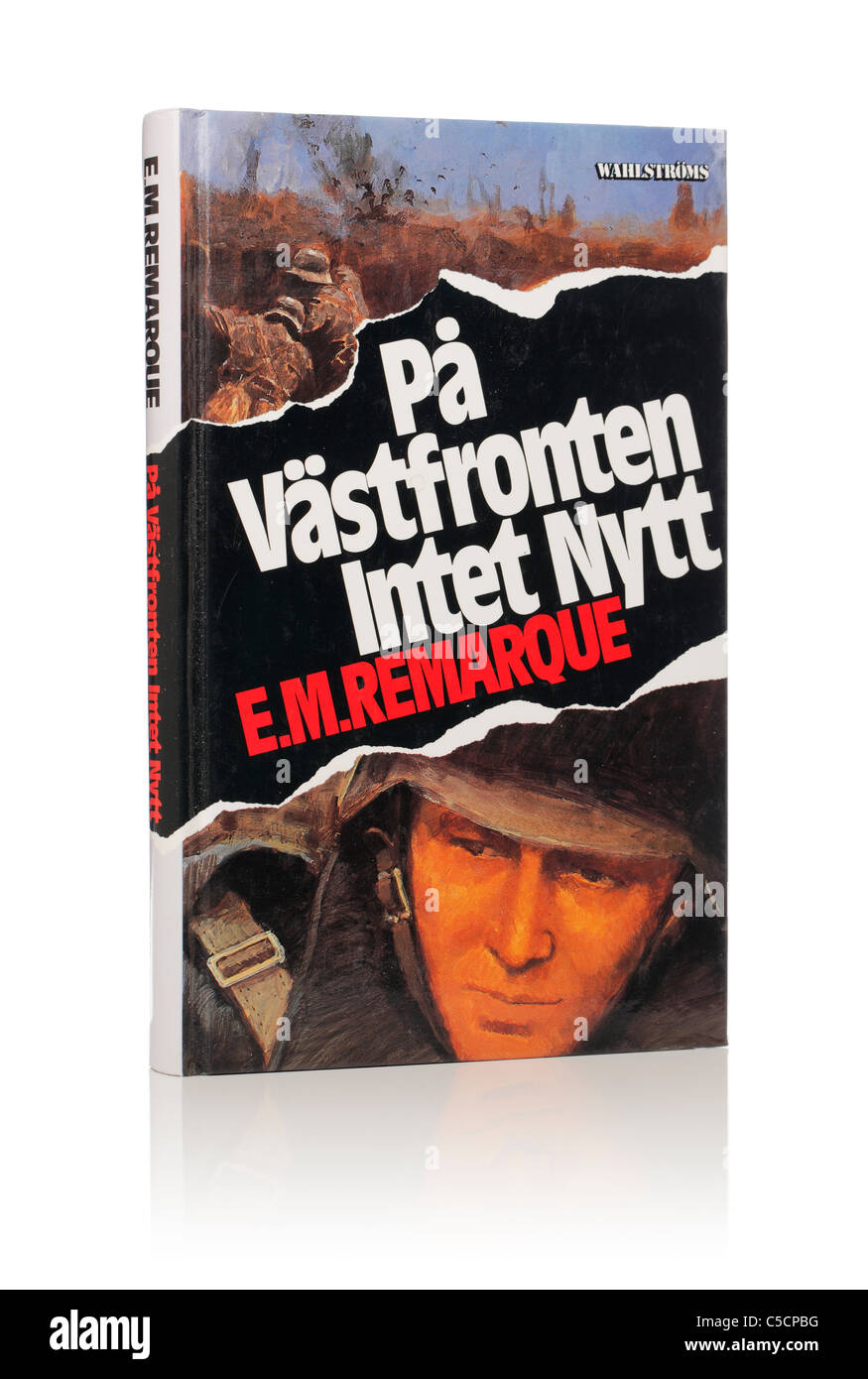 E. M. Remarque's Novel 'All Quiet on the Western Front'. Here in Swedish edition from 1995. - Stock Image