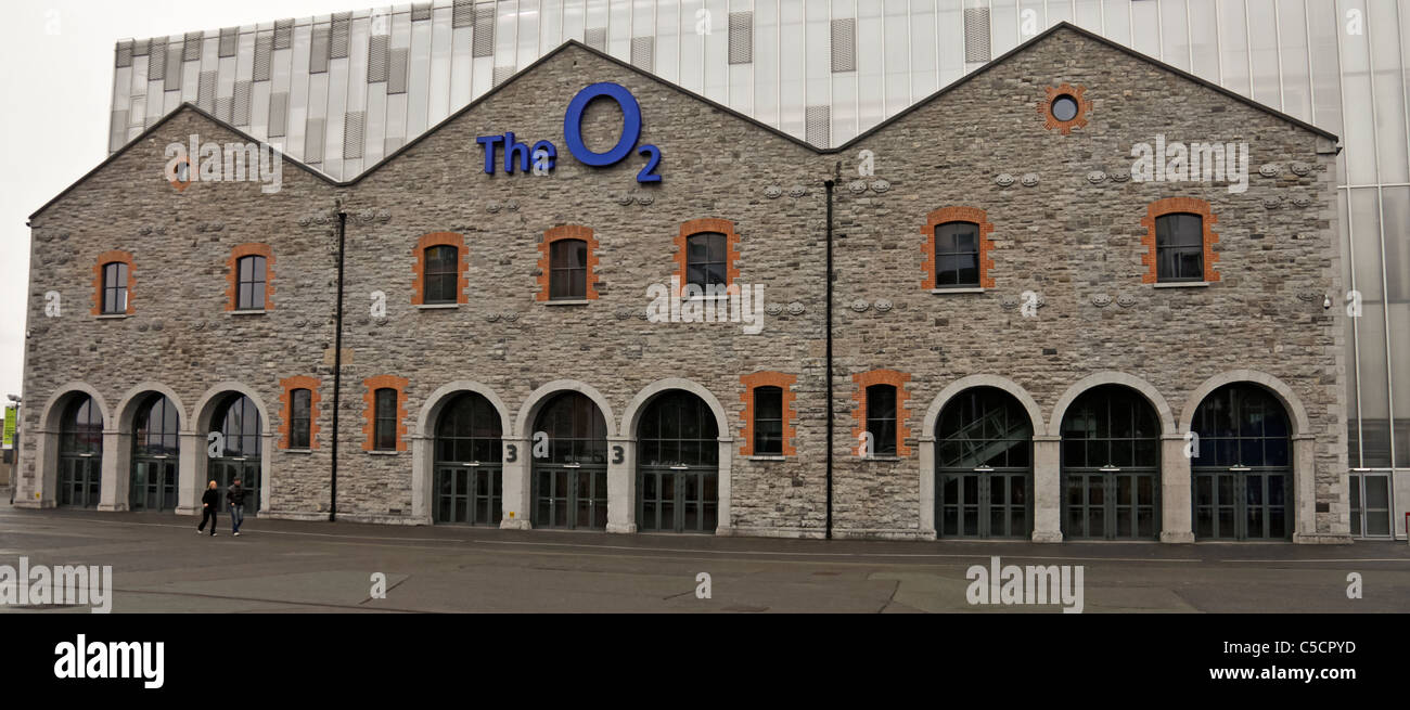 Exterior of the O2 Arena in the Docklands area of Dublin, Republic of Ireland - Stock Image