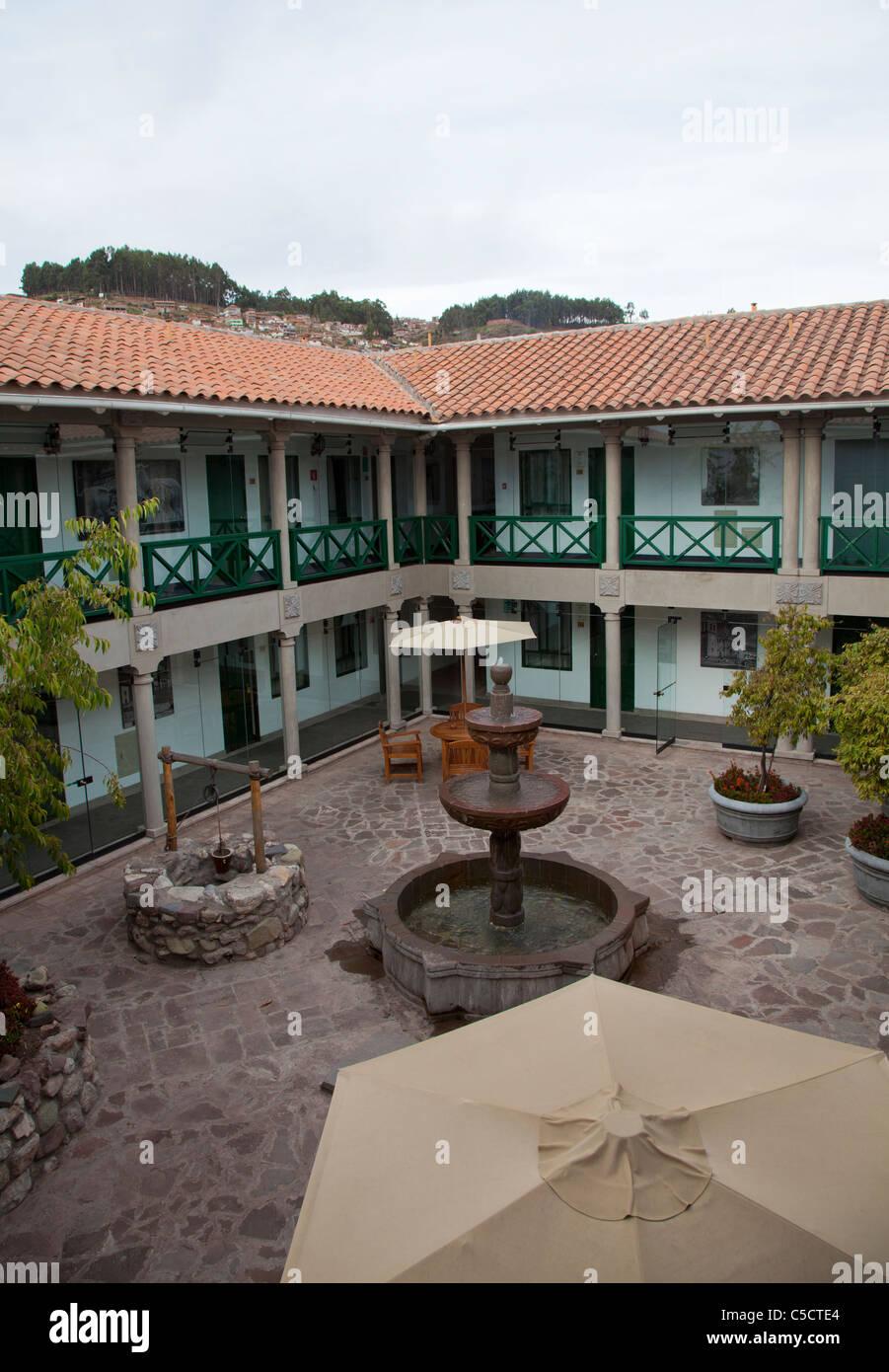 Interior of the Casa Andina Private Collection Hotel in Cusco, Peru Stock Photo