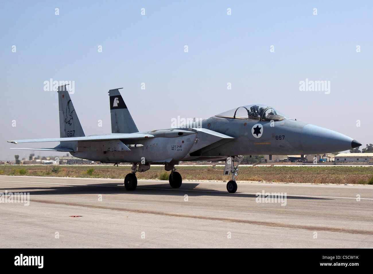 Israeli Air force F-15C Fighter jet on the ground Stock Photo