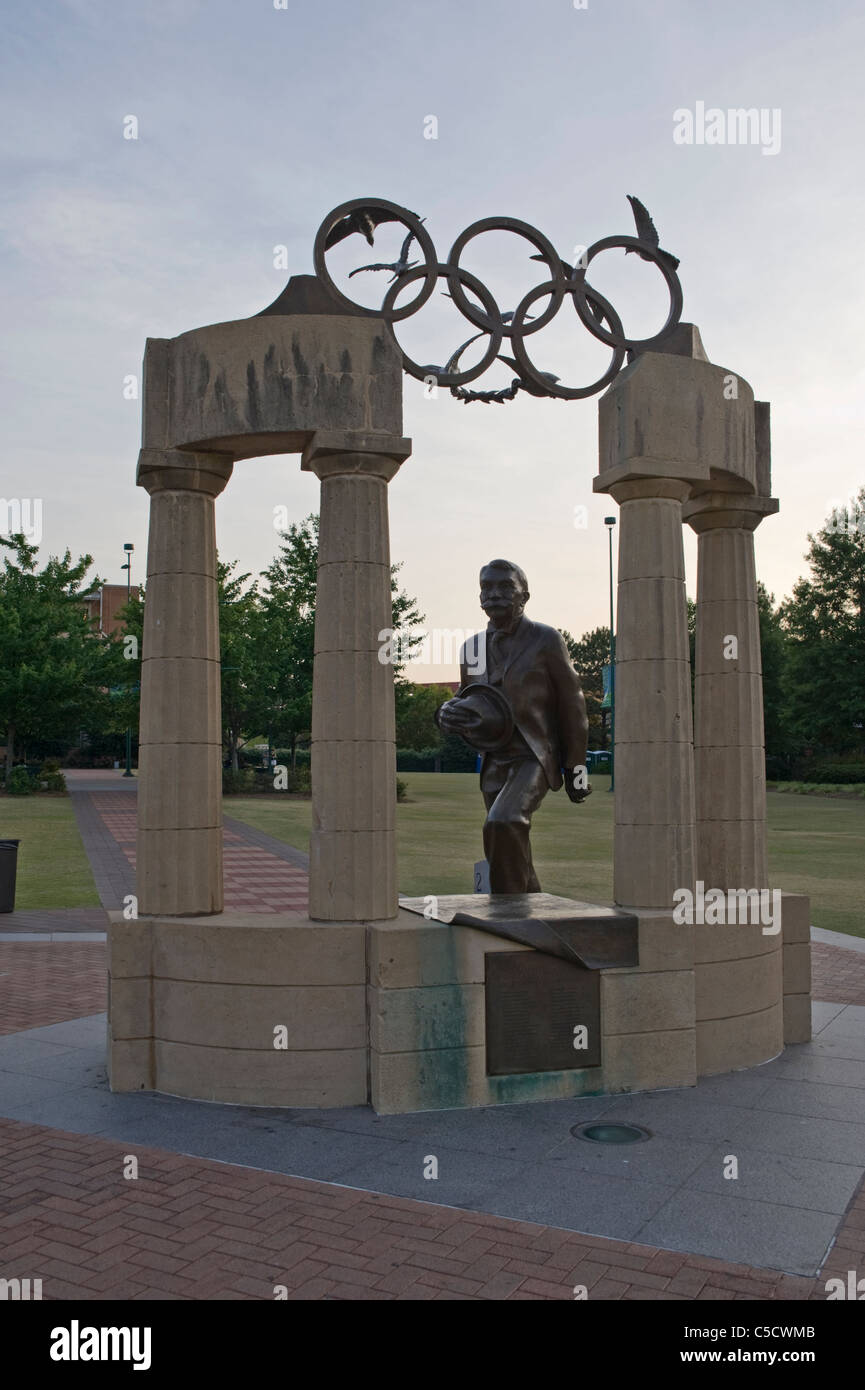 The Gateway of Dreams sculpture in Centennial Olympic Park in downtown Atlanta, Georgia - Stock Image