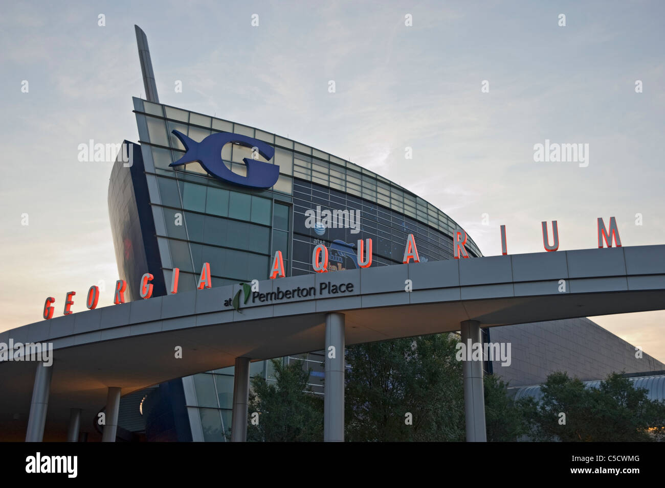 Georgia Aquarium near Centennial Olympic Park in downtown Atlanta, Georgia - Stock Image