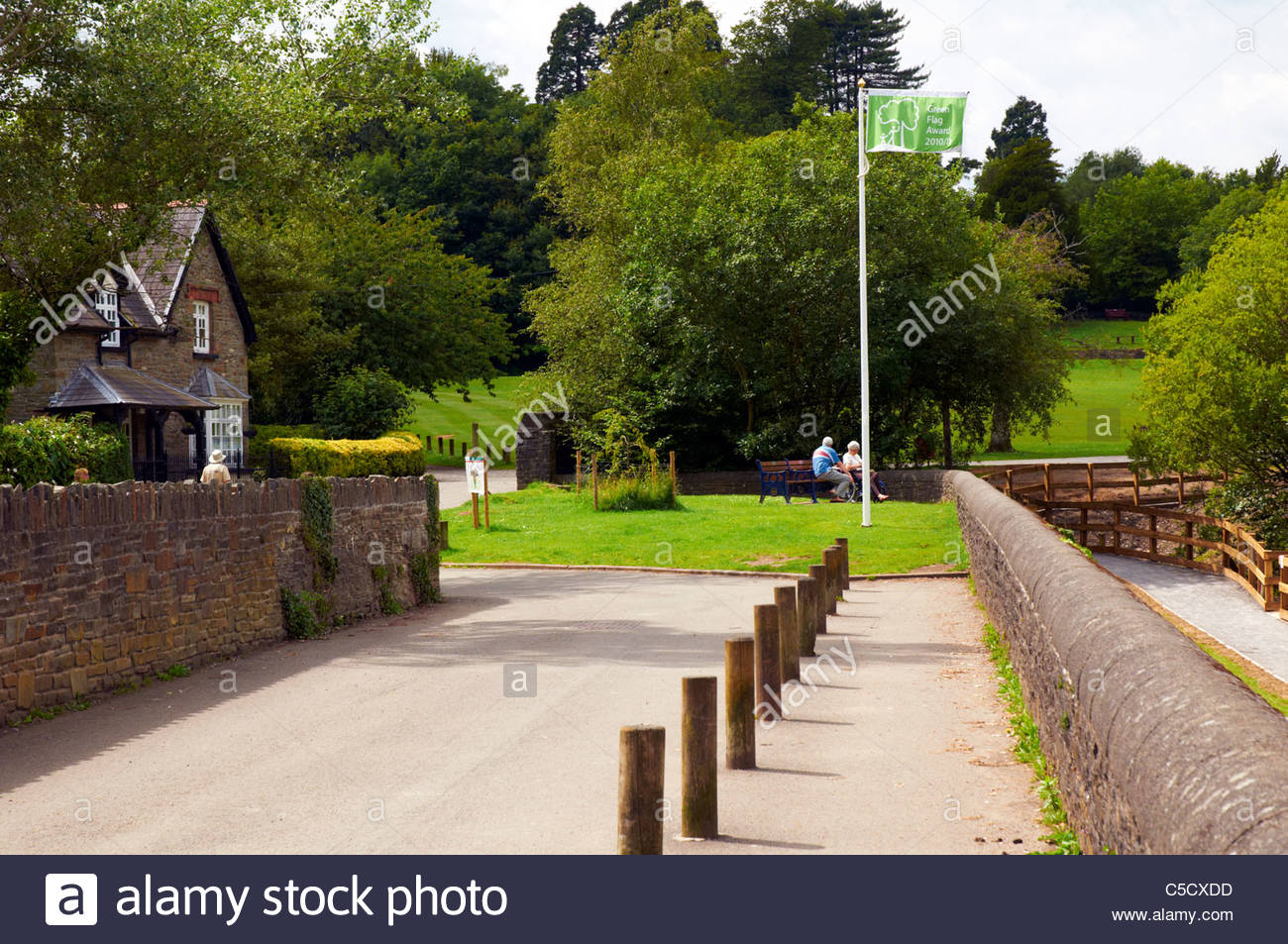 the cottage in gnoll grounds country park in neath south wales - Stock Image