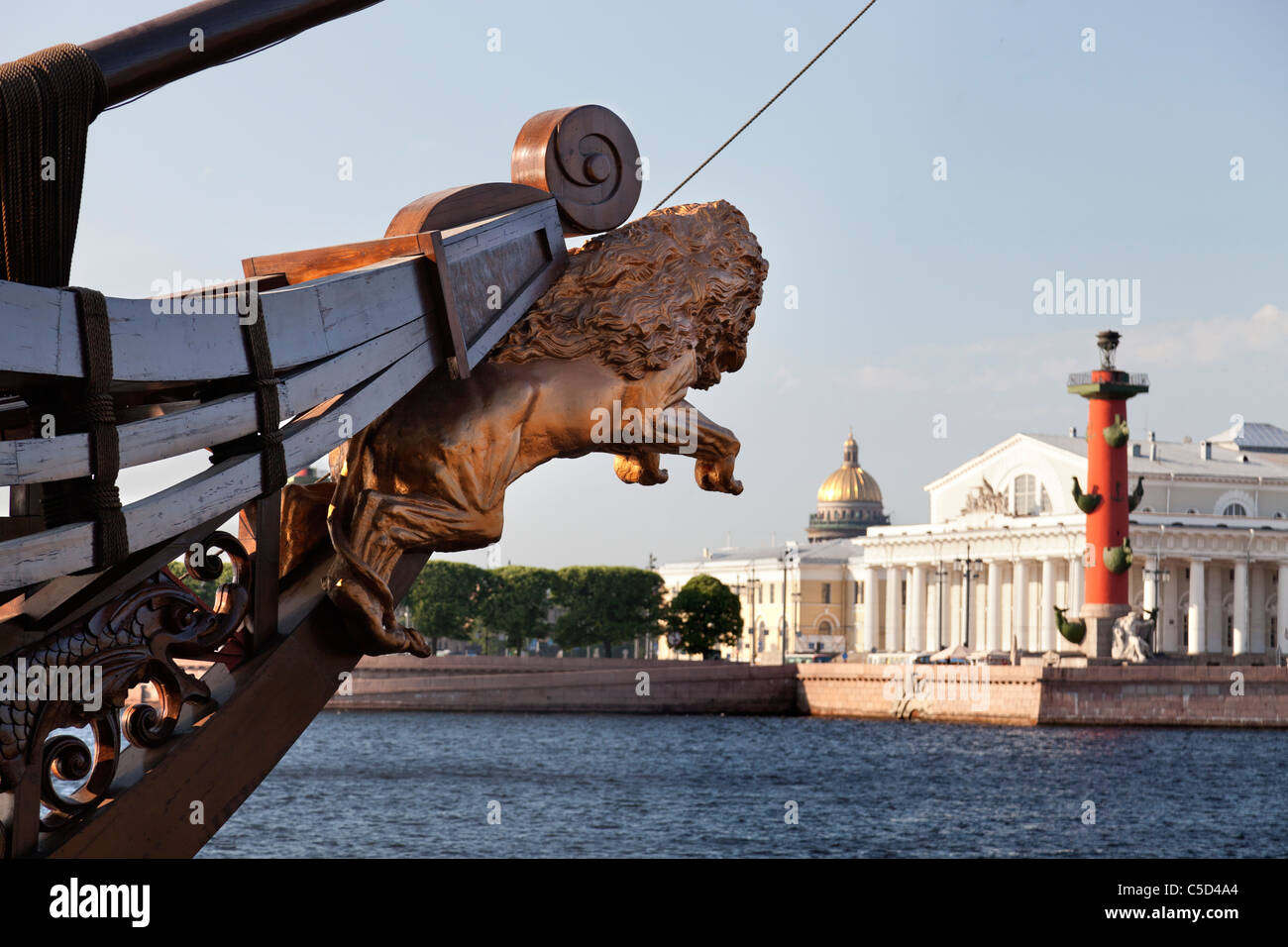Victory rostrum on the banks of the Neva, Saint Petersburg Russia - Stock Image
