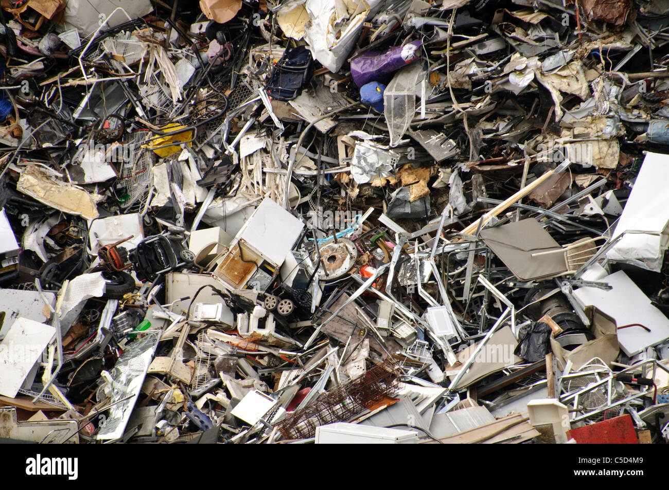 Scrap Metal Junk Yard, Brooklyn, New York City - Stock Image
