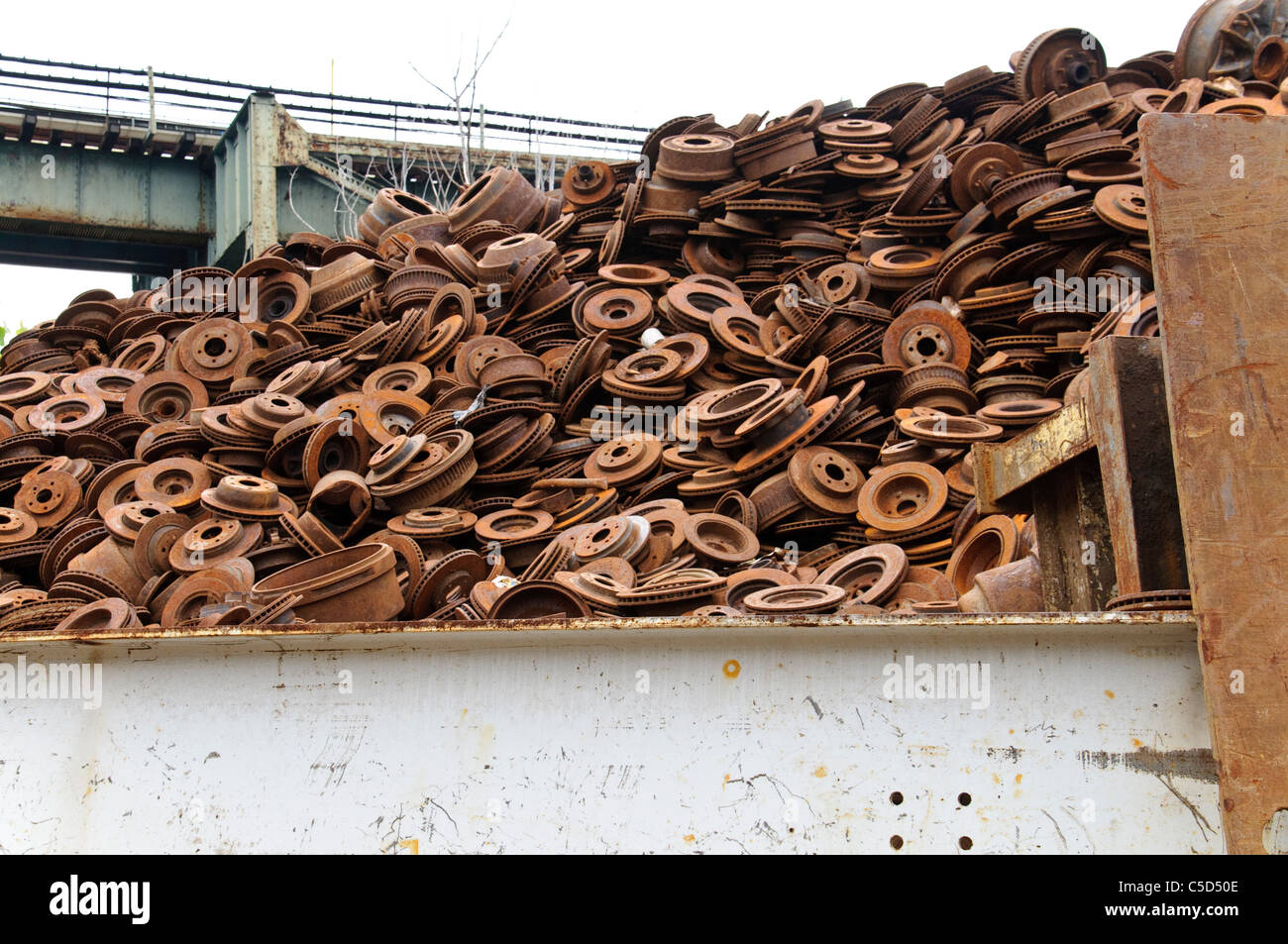 Rotors, Scrap Metal Junk Yard, Brooklyn, New York City - Stock Image