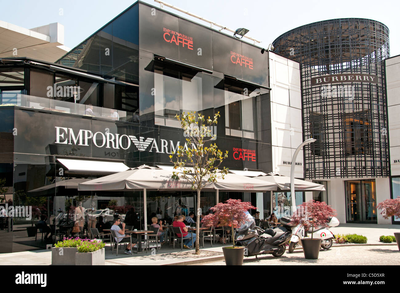 Emporio Armani Istanbul Istinye Park shopping mall is a unique urban lifestyle environment - Stock Image