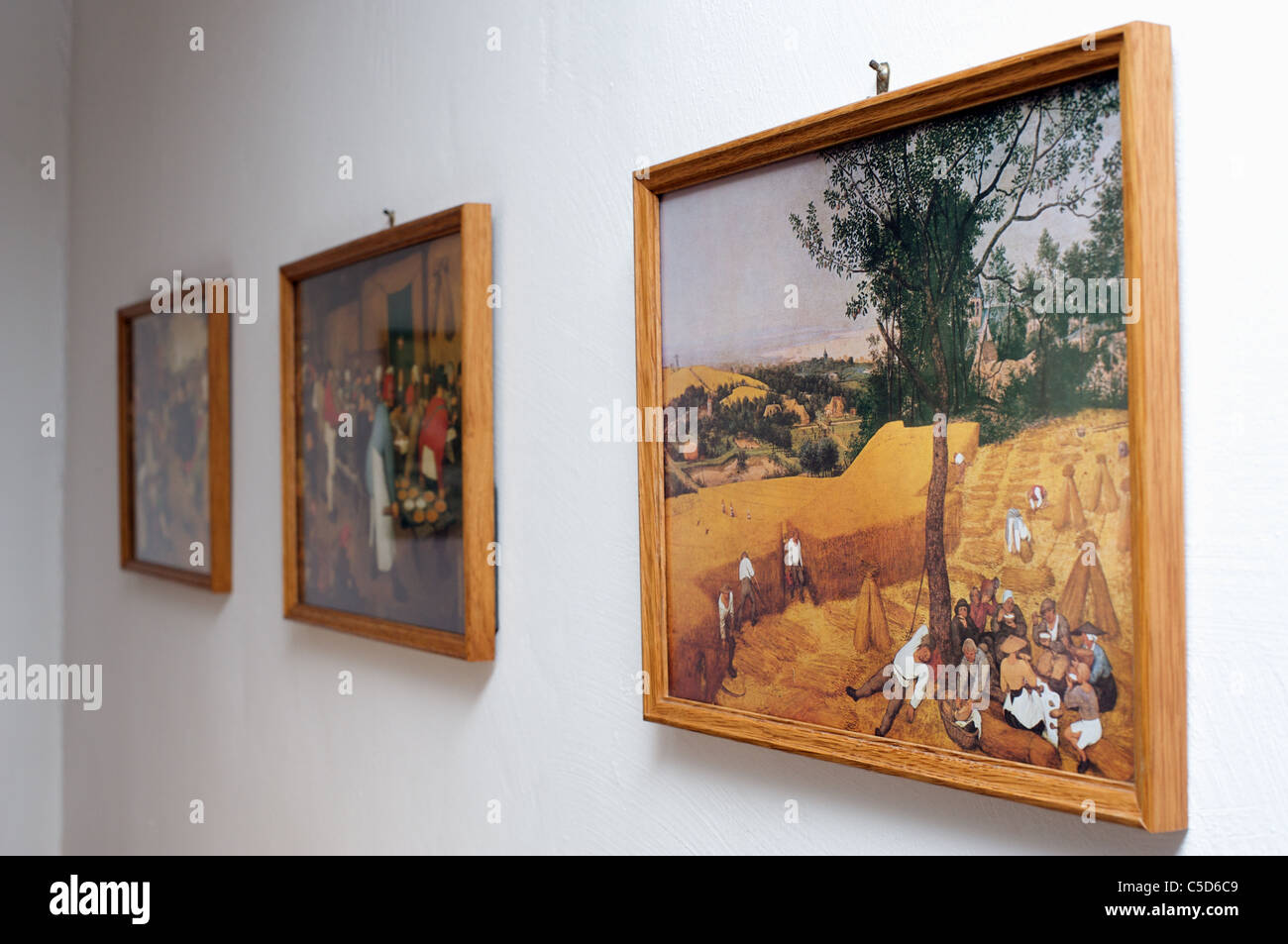 Prints Of Paintings Hanging On Wall Stock Photo 37784441 Alamy