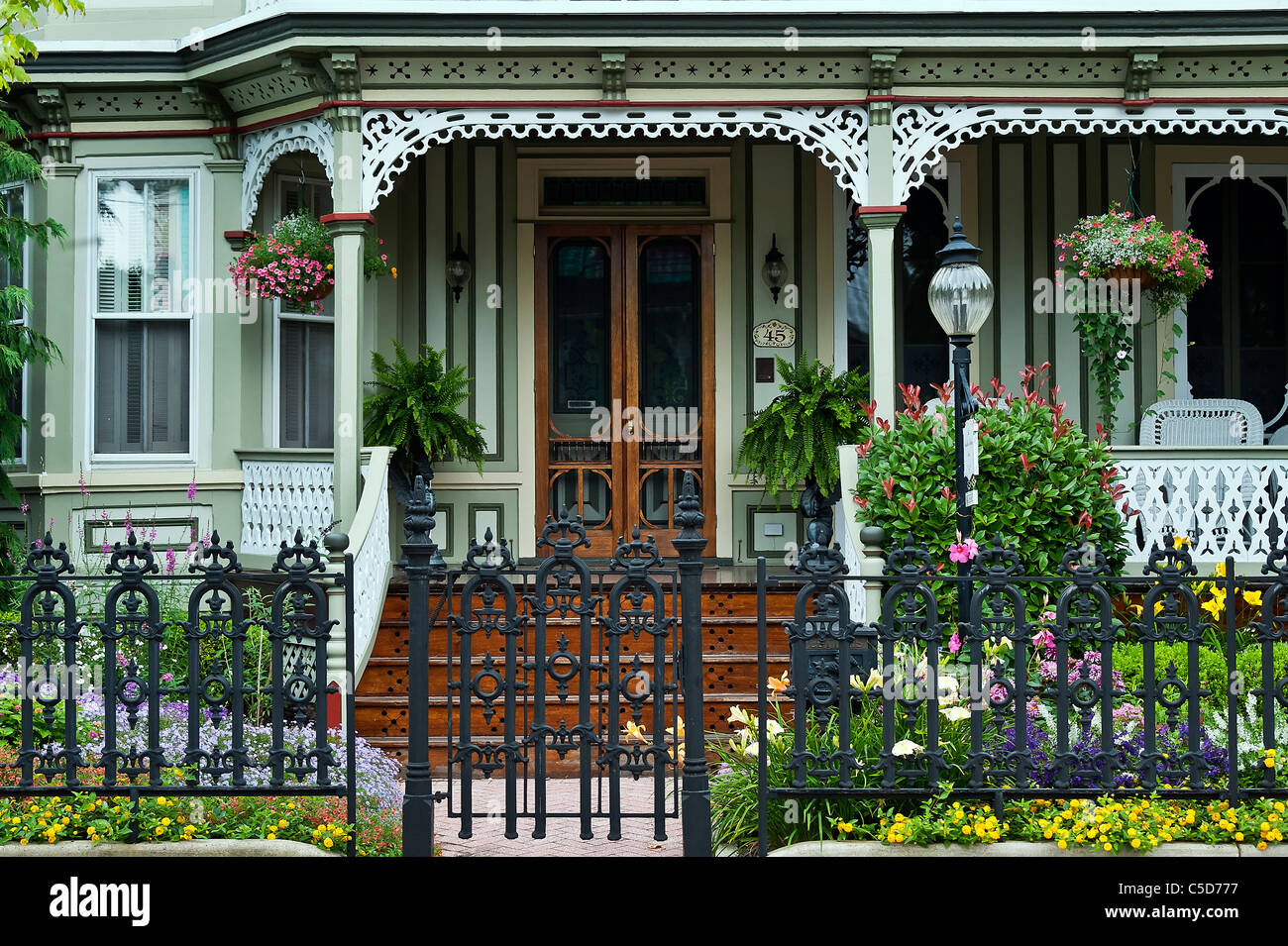 Victorian home, Cape May, NJ, USA - Stock Image