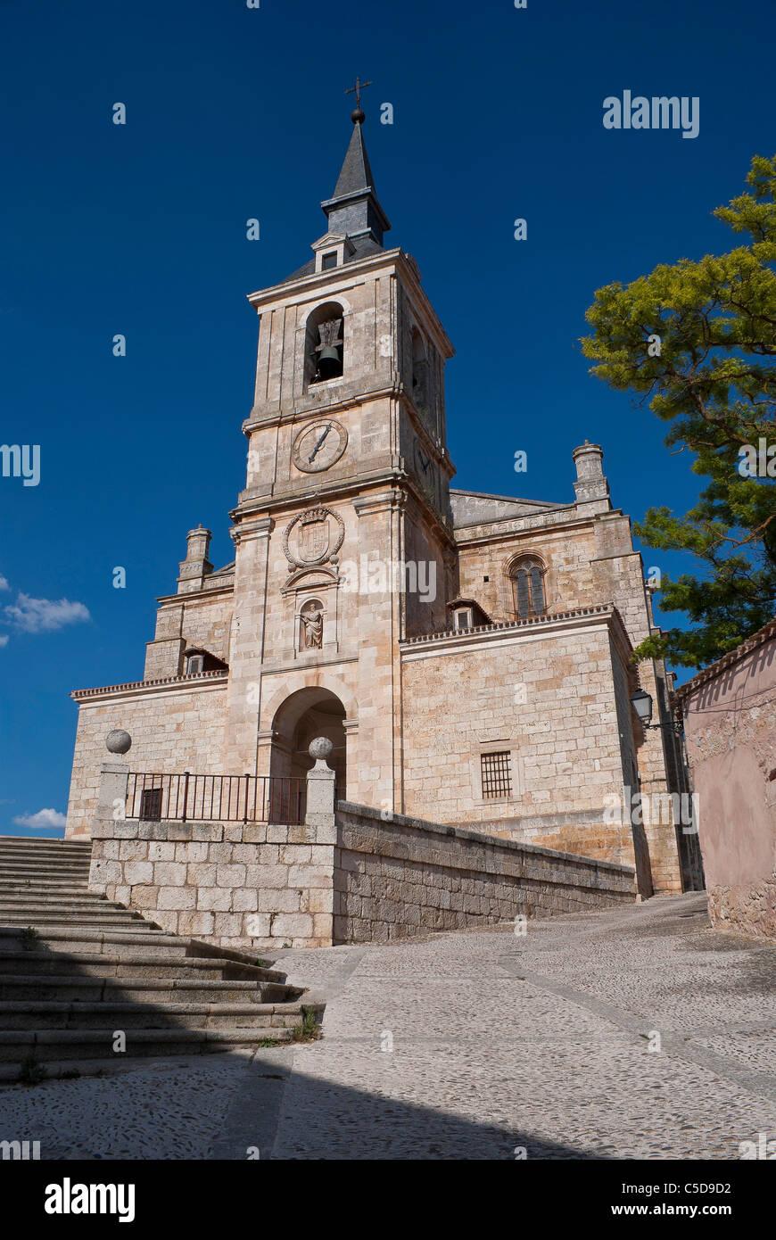 Lerma old city in Burgos, Collegiate church of San Pedro in Lerma Stock Photo