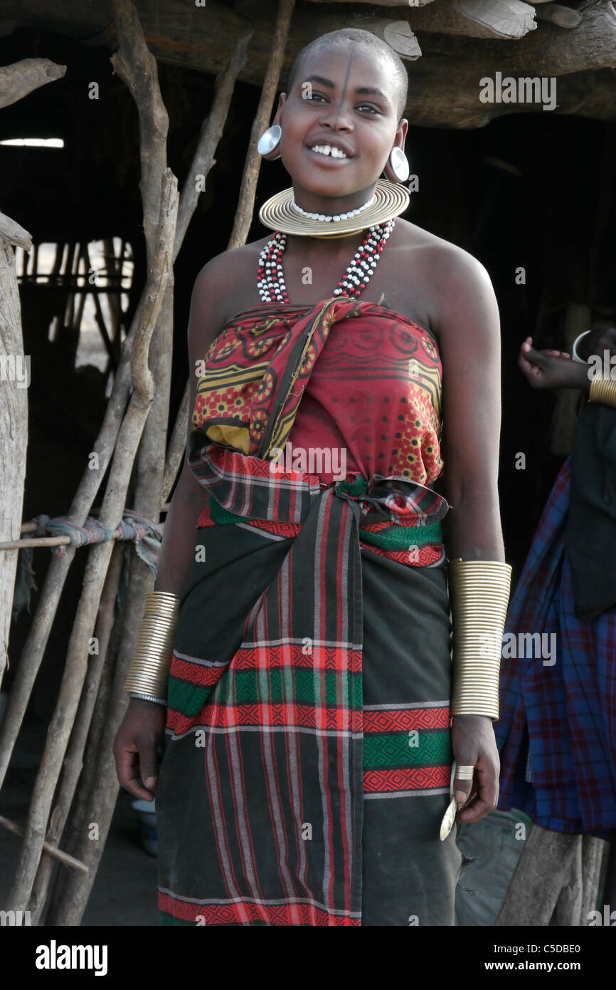 TANZANIA Watatulu tribe of Miyuguyu, Shinyanga district. A beautiful young woman. photograph by Sean SpragueStock Photo