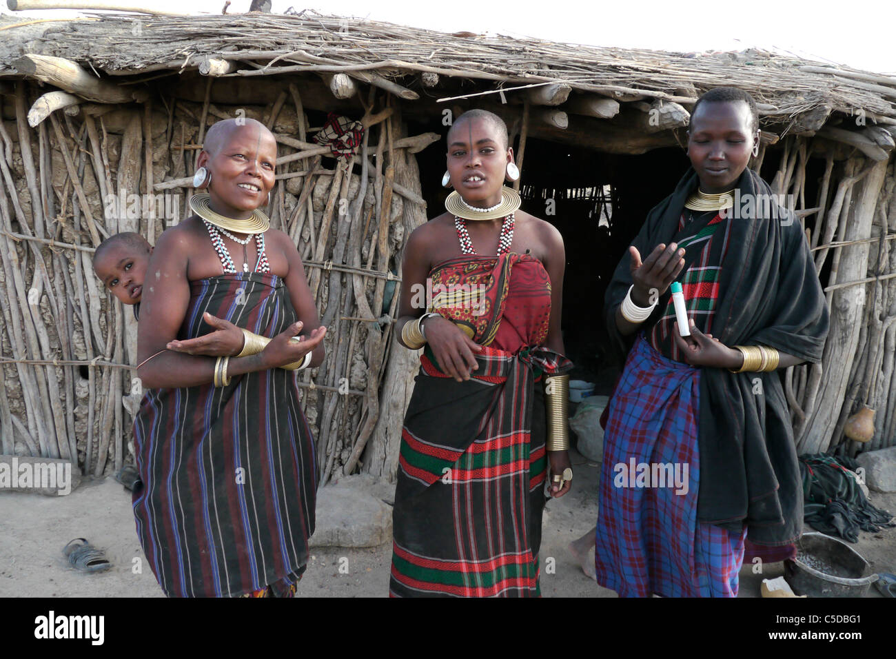 TANZANIA Watatulu tribeswomen of Miyuguyu, Shinyanga district. photograph by Sean Sprague Stock Photo