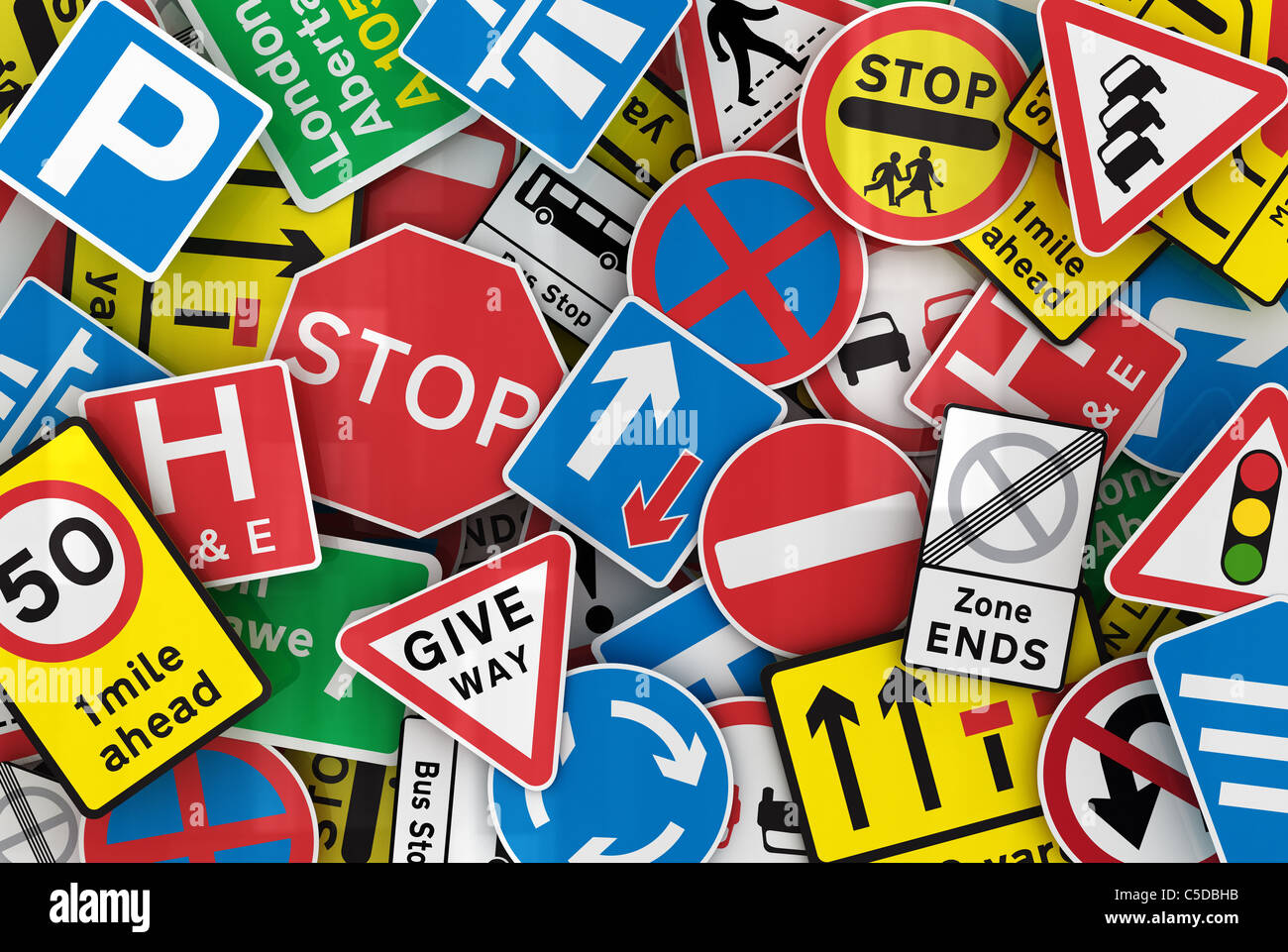 British road signs - Stock Image