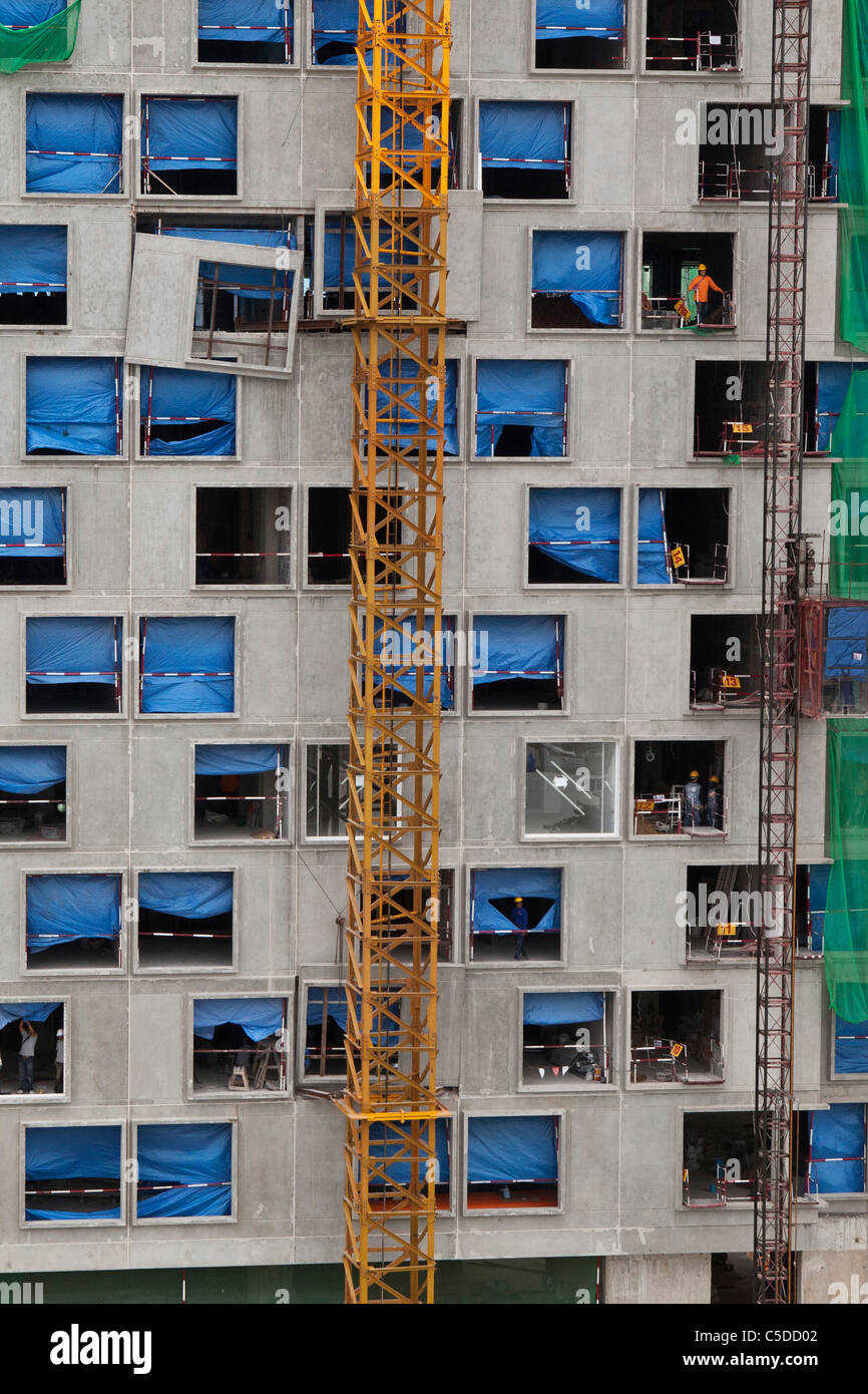 Building under construction in Thailand Stock Photo