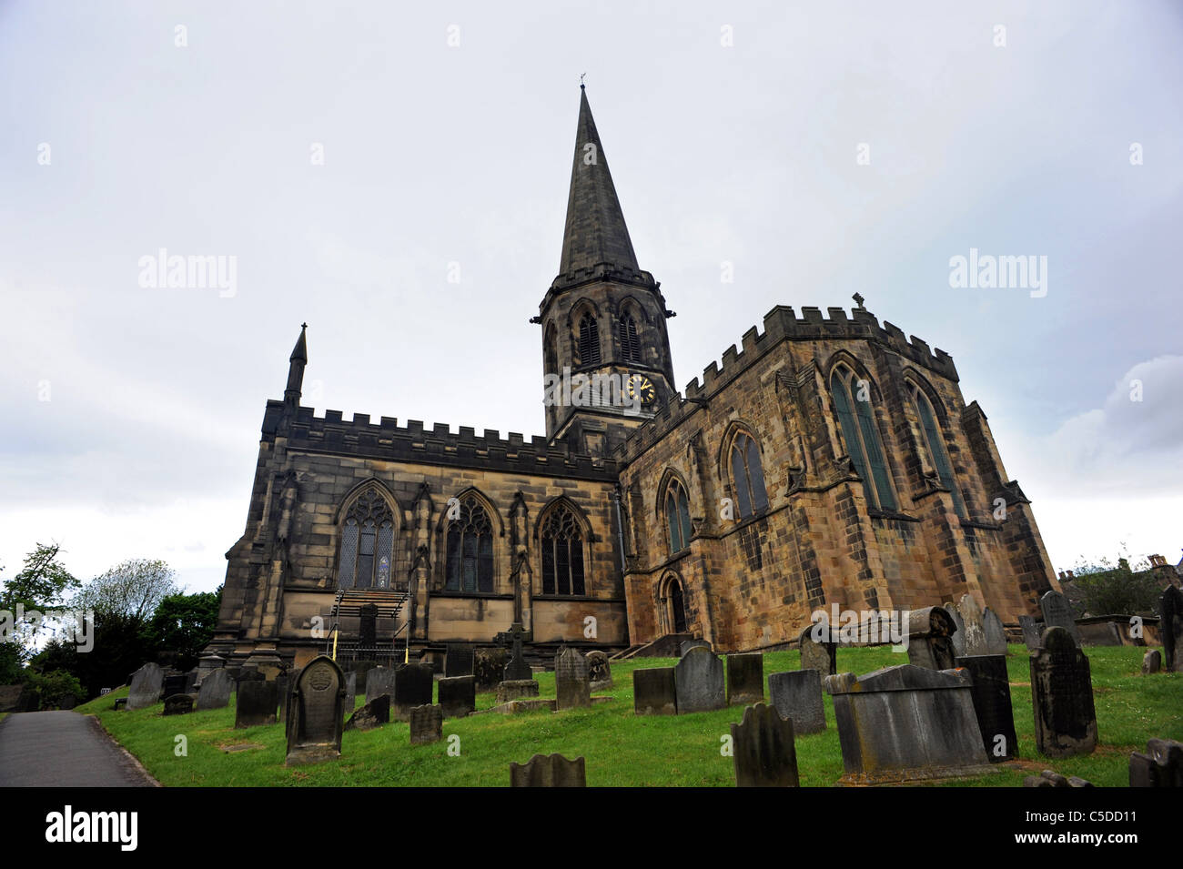 All Saints Parish Church in Bakewell - Stock Image
