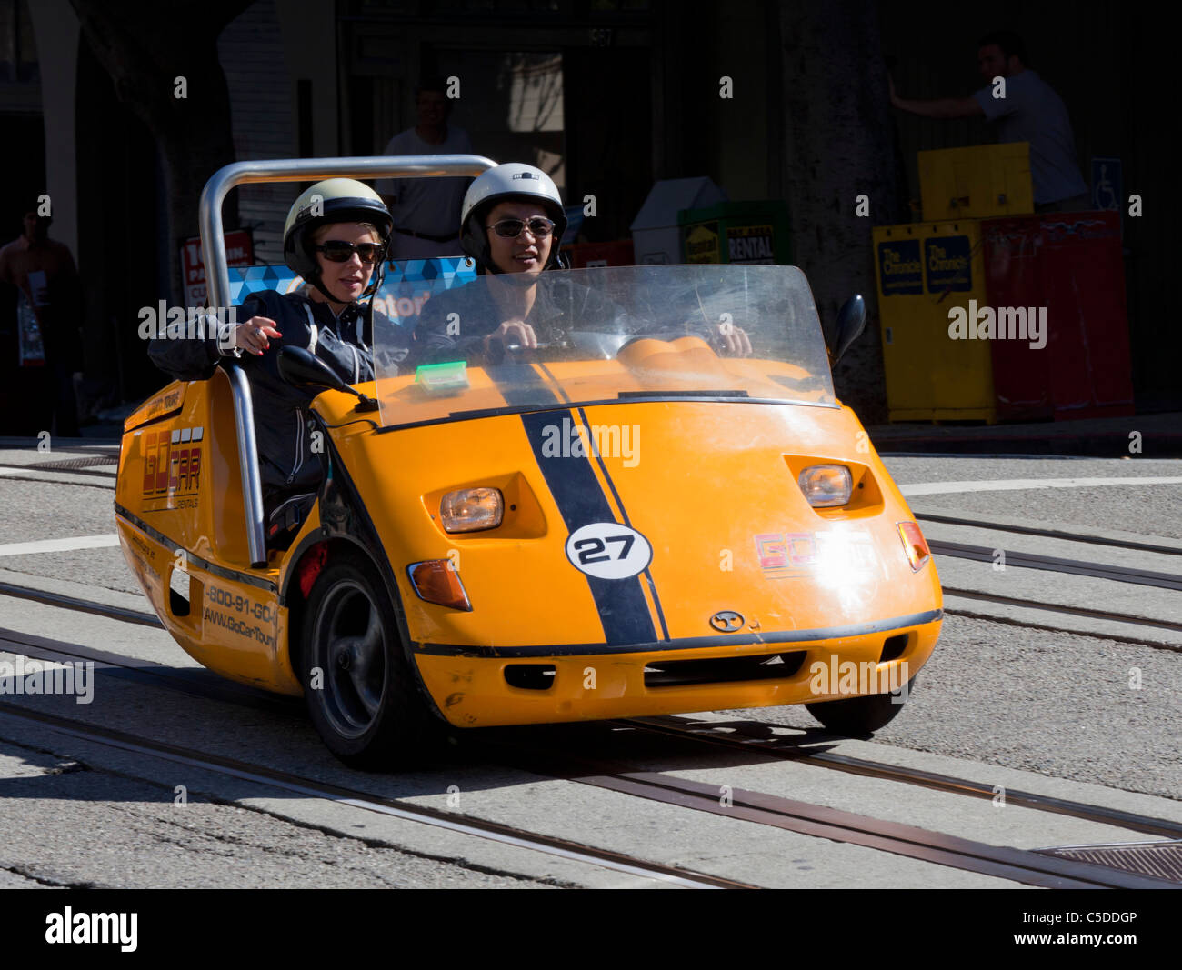 GoCar GPS-Guided Tours cars San Francisco california United States of America USA - Stock Image