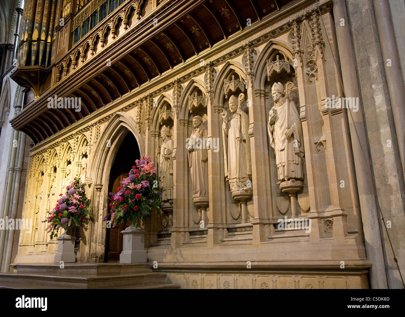 Rochester Cathedral Statues - Stock Image