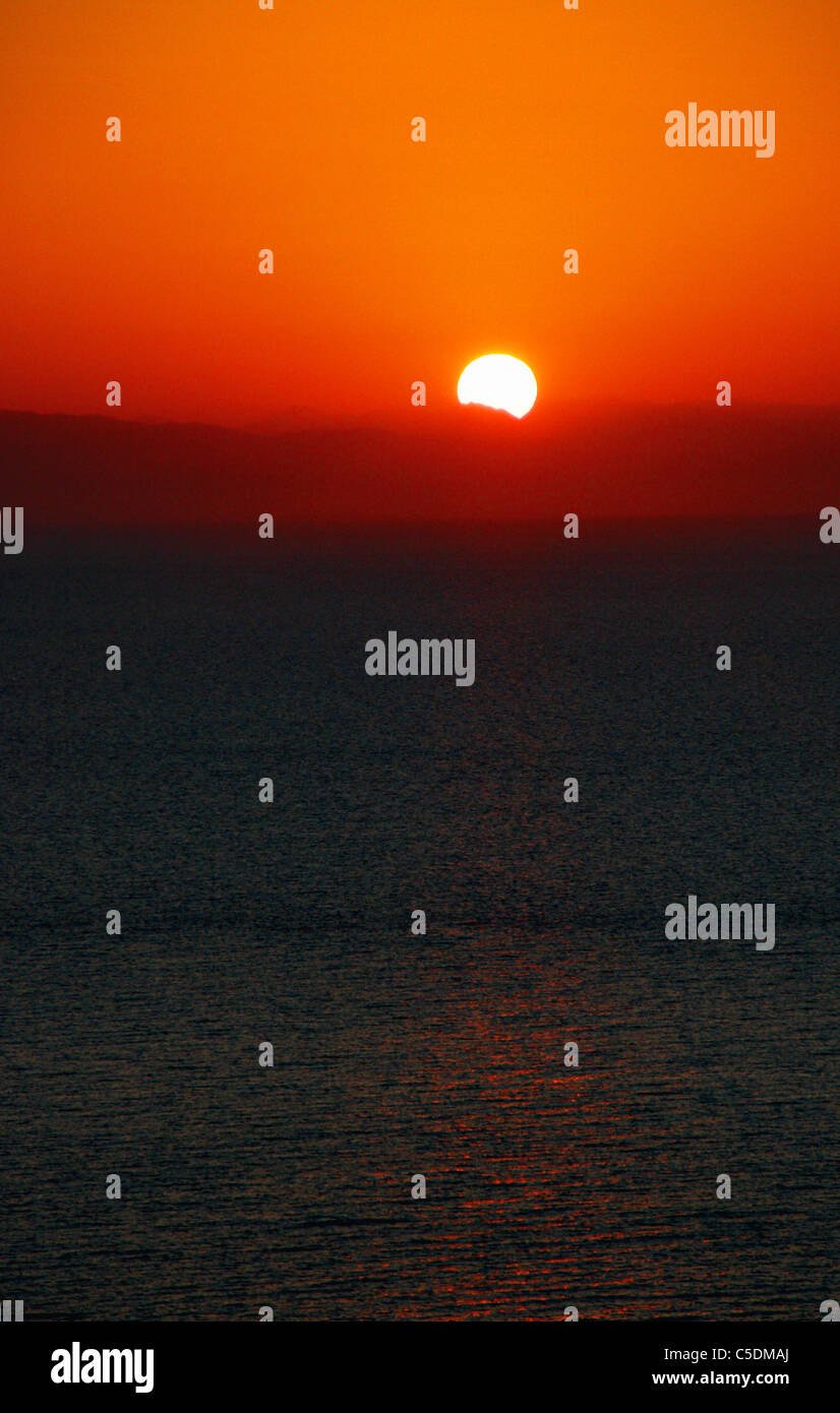 Sun rise in Kefelonia - Stock Image