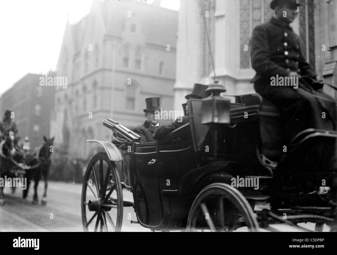 C. F. Murphy seated in carriage, New York City, USA - Stock Image