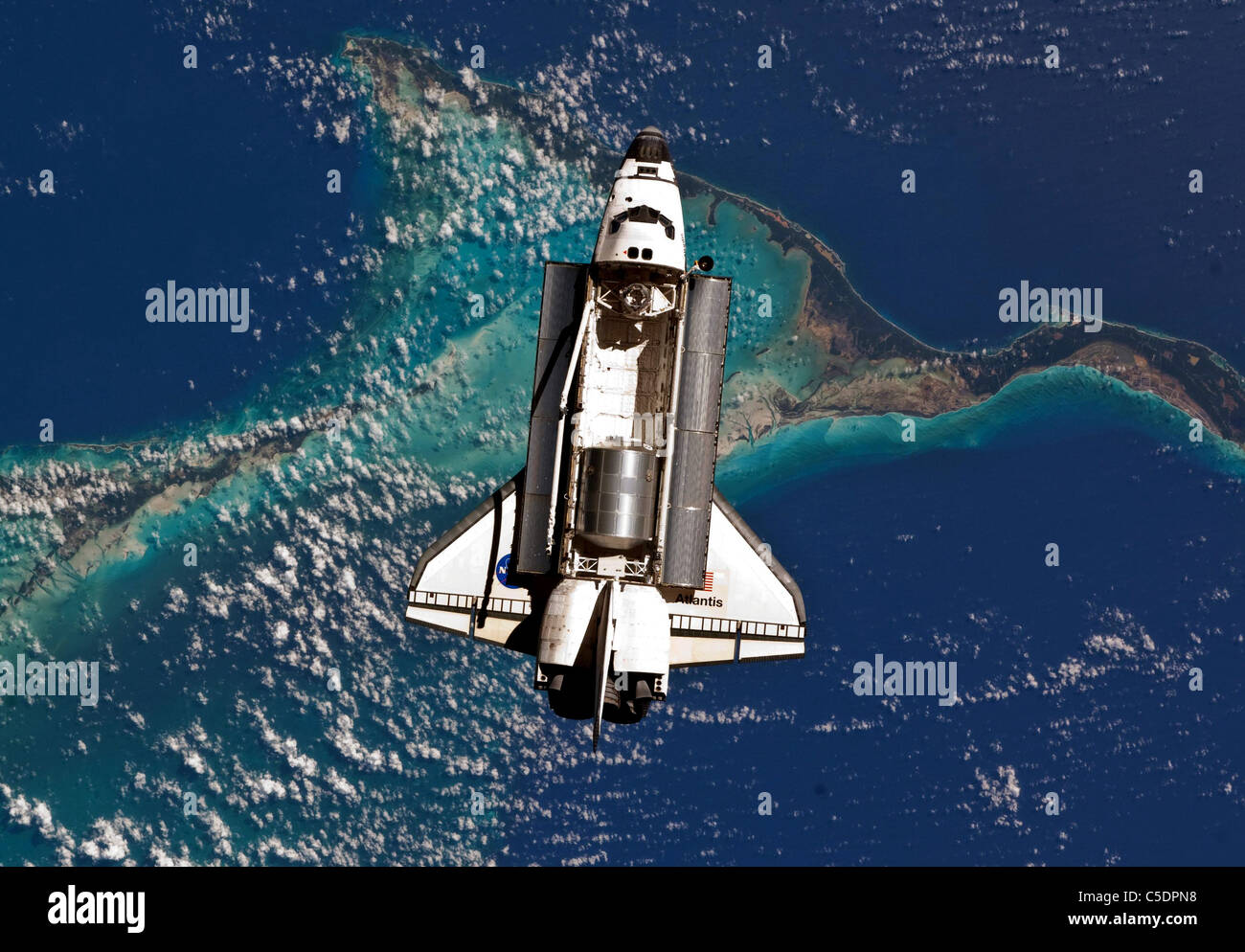 Space Shuttle Atlantis during it's final mission STS135 - Stock Image