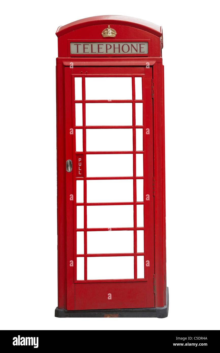 Red phone box, England, United Kingdom - Stock Image