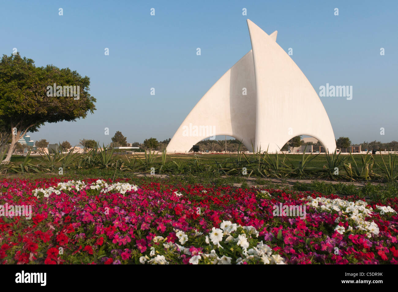 Elk204-1058 Bahrain, Manama, downtown, Sail Monument - Stock Image
