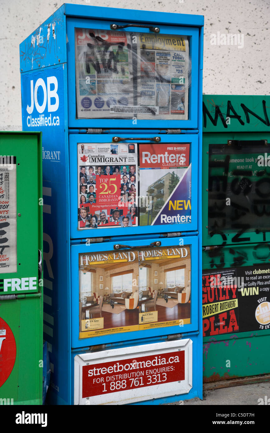 free newspapers for renters property jobs in toronto ontario canada - Stock Image