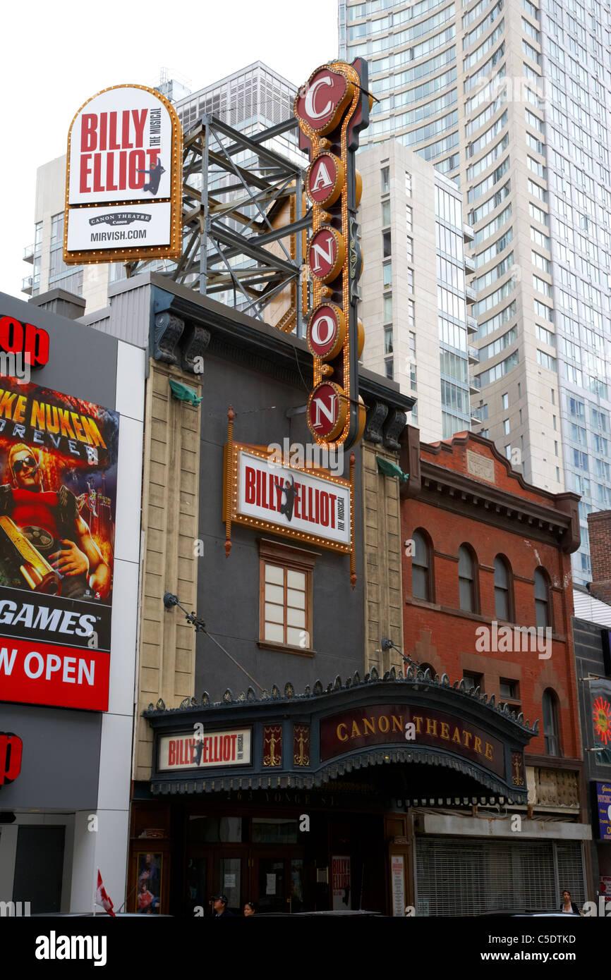 canon theatre yonge street toronto ontario canada - Stock Image