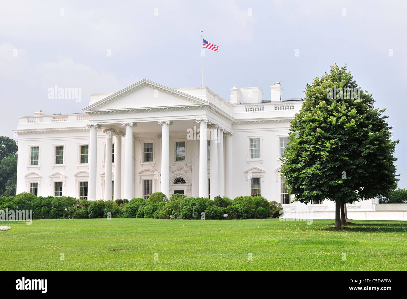 The White House is the official residence and principal workplace of the President of the United States. - Stock Image