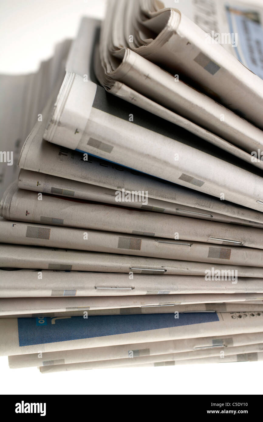 tall stack newspapers stock photos & tall stack newspapers stock
