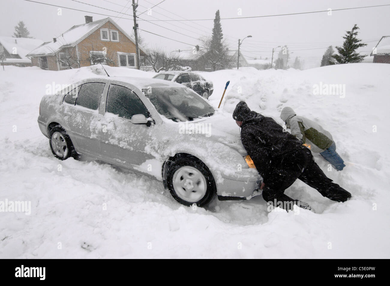 Image result for images of getting car out of snow