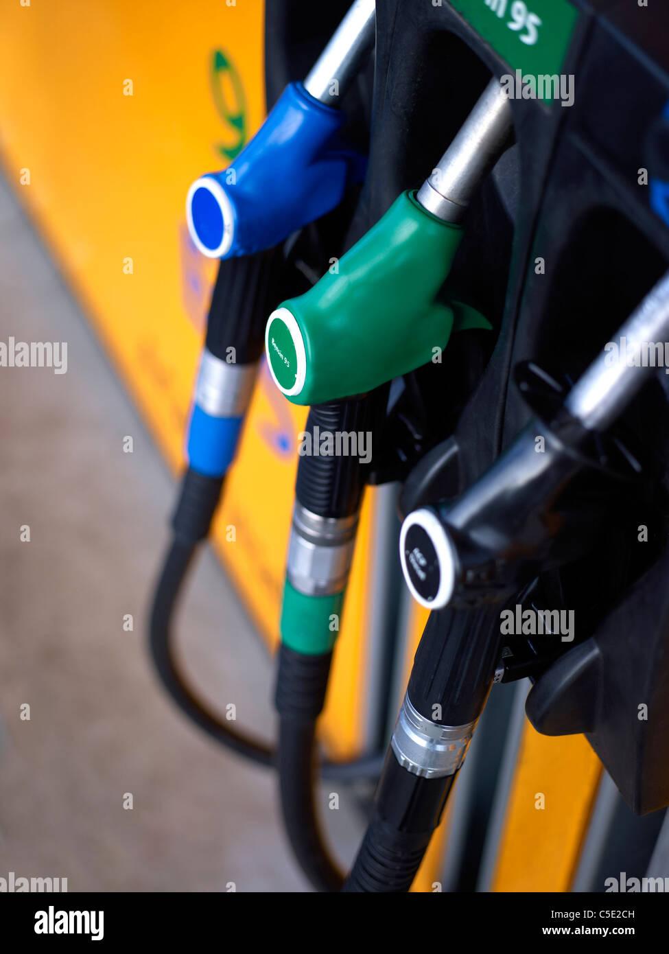 Detail shot of gasoline station Stock Photo